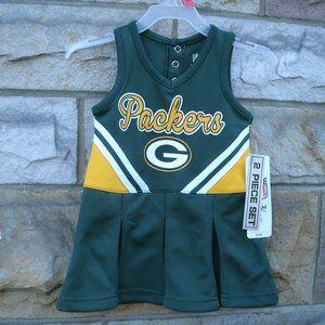 Green Bay Packers Football Girls Dress Set NFL